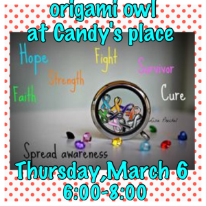 Origami Owl Fundraiser Party @ Candy's Place | Forty Fort | Pennsylvania | United States